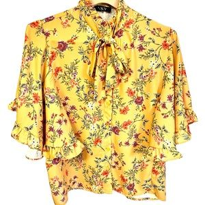 NWT LNV cute girly floral butterfly sleeve #70D